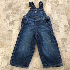 OshKosh B'gosh bib overalls lined denim 18 mos